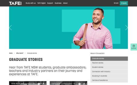 Graduate stories  - TAFE NSW