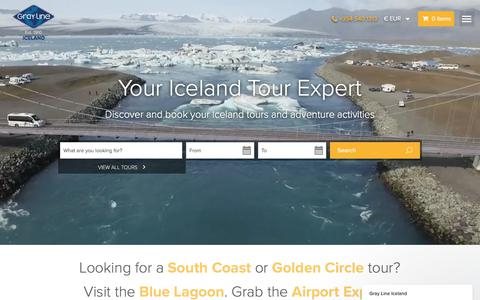 Screenshot of Home Page grayline.is - Gray Line Iceland - Award winning and best selling tours - captured Sept. 16, 2017