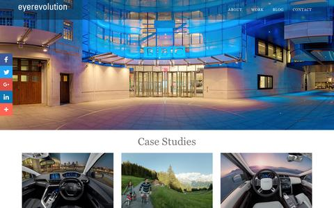 Screenshot of Case Studies Page eyerevolution.co.uk - Eye Revolution - Virtual Tour Company - Case Studies - captured May 23, 2017
