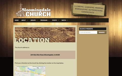 Screenshot of Maps & Directions Page bloomingdalechurch.org - Location | Bloomingdale Church - captured Sept. 30, 2014