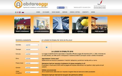 Screenshot of Press Page abitareoggi.it - LE LEGGE DI STABILITA' 2016 IN PILLOLE - Abitare Oggi - captured May 31, 2016