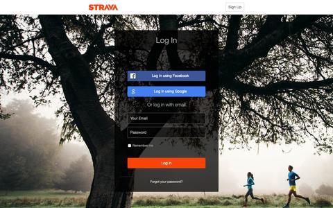 Screenshot of Login Page strava.com - Log In | Strava - captured Nov. 10, 2015