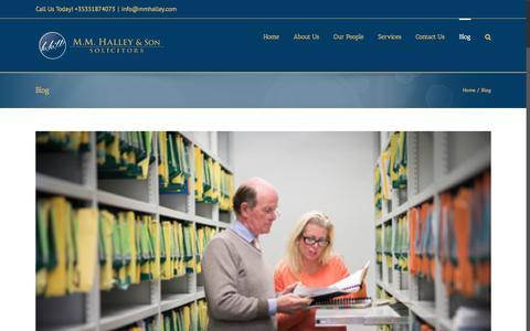 Screenshot of Blog mmhalley.com - Blog – MM Halley Solicitors Waterford - captured Nov. 15, 2016