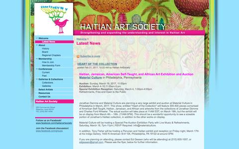 Screenshot of Press Page google.com - Latest News - Haitian Art Society - captured April 9, 2017