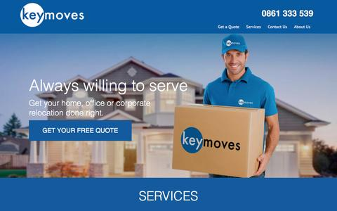 Screenshot of Services Page keymoves.co.za - Services - Key Moves - captured Feb. 12, 2016