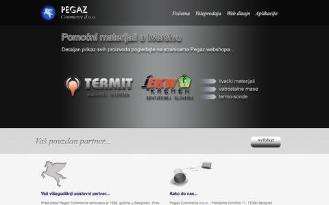 Screenshot of Home Page pegazcom.co.rs - Početna | Pegaz Commerce - captured Oct. 9, 2014