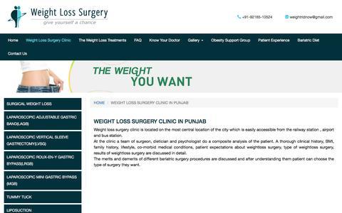 Weight Loss Clinic| Weight Loss Surgery Ludhiana | Weight Loss Surgery Clinic in Punjab