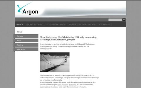 Screenshot of Home Page argonconsult.no - Forside - ARGON CONSULT AS - captured Oct. 4, 2014