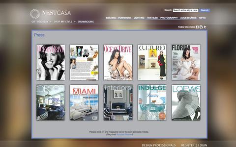 Screenshot of Press Page nestcasa.com - Press - captured Oct. 7, 2014