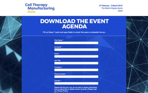 Screenshot of Landing Page knect365.com - Cell Therapy Asia Event Brochure - captured Oct. 29, 2017