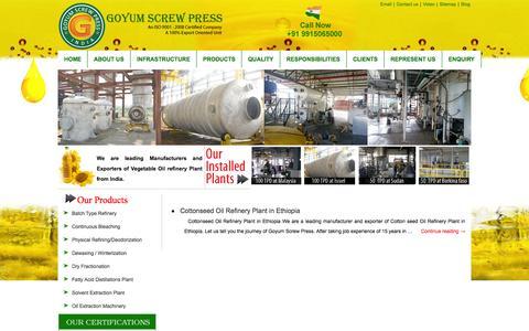 Screenshot of Blog vegetableoilrefinery.net - Blog - captured Sept. 19, 2014
