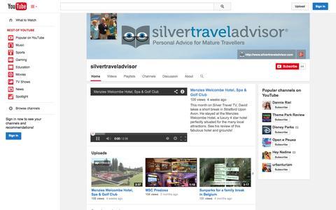 Screenshot of YouTube Page youtube.com - silvertraveladvisor  - YouTube - captured Oct. 29, 2014