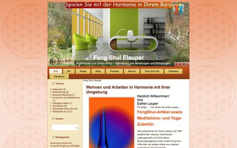 Screenshot of Home Page feng-shui-elauper.de - Feng Shui Elauper - Großhandel, Feng Shui Versand, Online Shop - captured June 9, 2016
