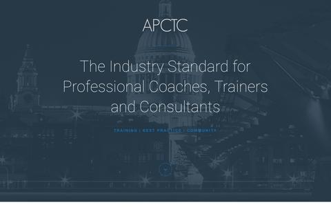 Screenshot of Signup Page apctc.com - Join the APCTC - APCTC - captured Feb. 8, 2016