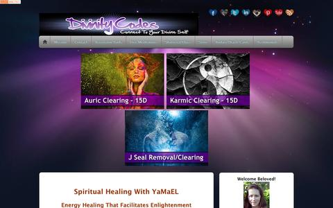 Screenshot of Home Page divinitycodes.com - Spiritual Healing with YaMaEL | Divinity Codes Healing - captured Nov. 24, 2016