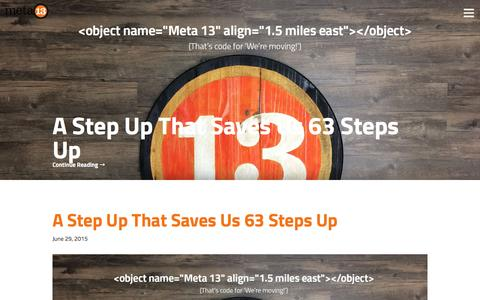Screenshot of Press Page meta13.com - News - Meta 13 Interactive - captured Feb. 13, 2016