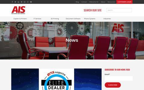 Screenshot of Press Page ais-now.com - AIS News - captured Oct. 3, 2018