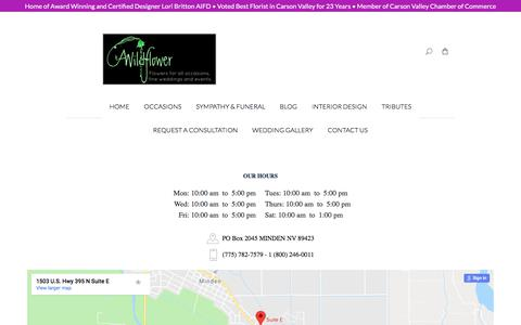 Screenshot of About Page awildflower.net - A Wildflower Florist - captured July 3, 2018