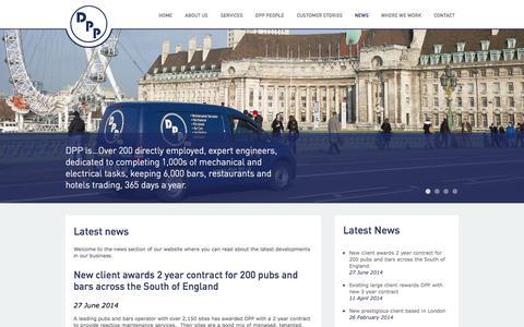 Screenshot of Press Page dpp.ltd.uk - Latest news   DPP - captured Oct. 5, 2014