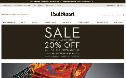 Screenshot of Home Page paulstuart.com - Paul Stuart - Fine Men's & Women's clothing - captured Jan. 17, 2016