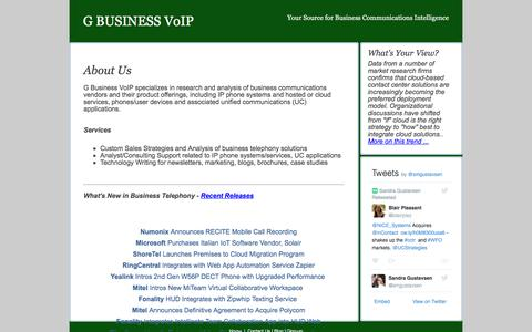 Screenshot of Home Page gbusinessvoip.com - G Business VoIP - captured May 24, 2016