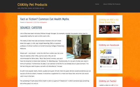 Screenshot of Blog citikitty.com - CitiKitty Pet Products   cats, kitty litter boxes, cat treats oh my! - captured Sept. 23, 2014