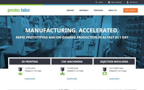 Proto Labs: 3D Printing, CNC Machining, & Injection Moulding Services