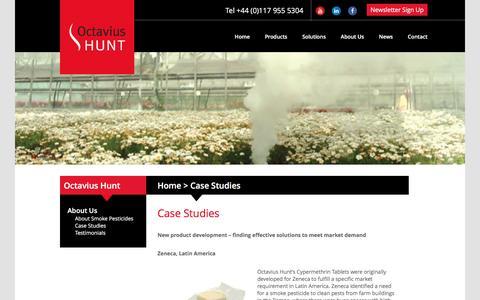 Screenshot of Case Studies Page octaviushunt.co.uk - Case Studies | Octavius Hunt - captured Nov. 28, 2016