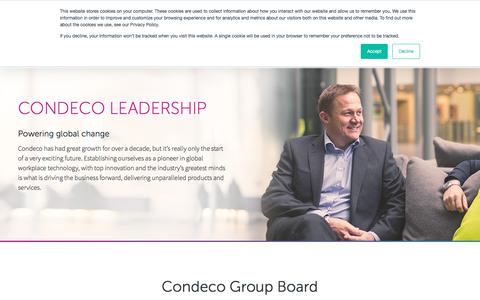 Screenshot of Team Page condecosoftware.com - Condeco Leadership - Condeco Software US - captured Sept. 20, 2018
