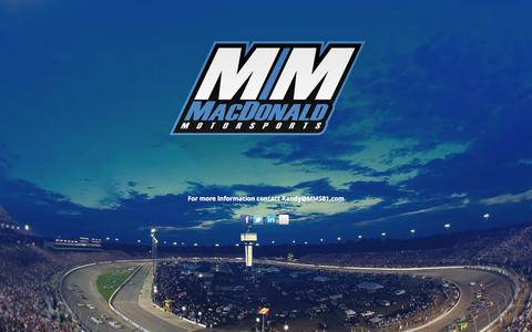 Screenshot of Contact Page mms81.com - Macdonald Motorsports - captured Oct. 10, 2014