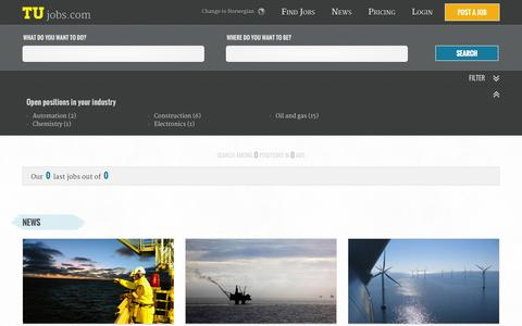 Screenshot of Team Page tujobs.com - Find a Job in the Oil, Gas and Subsea industry - Find Offshore or Oilfield jobs at Tujobs - captured Sept. 30, 2014
