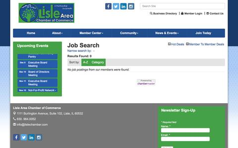 Screenshot of Jobs Page lislechamber.com - Job Search - Lisle Area Chamber of Commerce, IL - captured Nov. 10, 2016