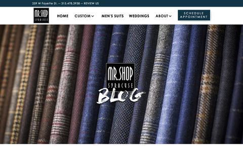 Screenshot of Blog mrshopsyracuse.com - Mr Shop Blog - Syracuse - captured Sept. 21, 2018