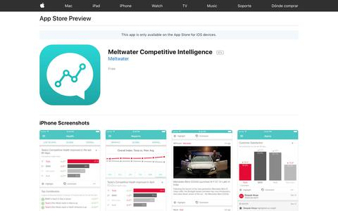 Meltwater Competitive Intelligence on the App Store