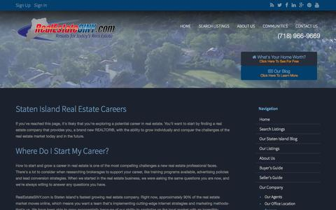 Screenshot of Jobs Page realestatesiny.com - Staten Island Real Estate Careers & Jobs : - captured Jan. 31, 2016