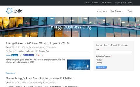 Screenshot of Blog inciteenergy.com - Incite Energy Blog - captured Jan. 8, 2016