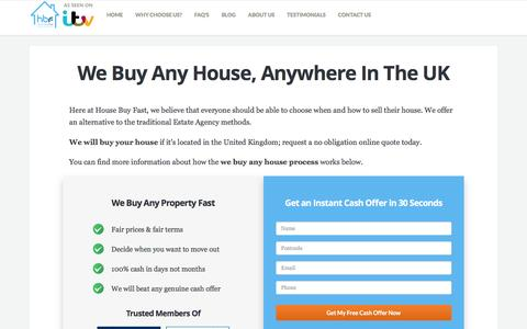 We Buy Any House, Anywhere In The UK | House Buy Fast