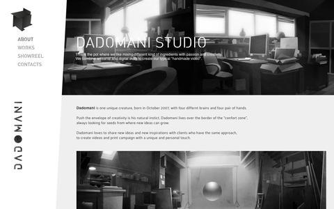Screenshot of About Page dadomani.com - About | Dadomani Studio - captured Oct. 9, 2018