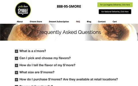 Screenshot of FAQ Page gottahavesmore.com - FAQ ⋆ Gotta Have S'More - captured May 22, 2017