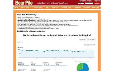 Screenshot of Signup Page bearpile.com - Bear Pile | Sign Up - captured April 9, 2017