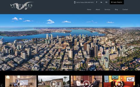Screenshot of Home Page venturesrealestate.com - Ventures Real Estate, Inc. – Brokerage & Investment - captured Nov. 13, 2017