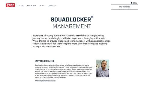 Screenshot of Team Page squadlocker.com - Management | SquadLocker - captured Dec. 21, 2016