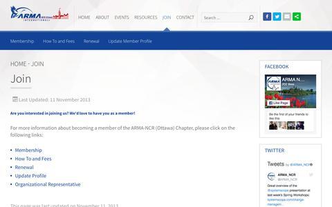 Screenshot of Signup Page armancr.ca - Join - captured May 28, 2017
