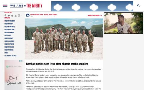 Screenshot of Press Page wearethemighty.com - We Are The Mighty - MIGHTY TRENDING - captured July 19, 2019