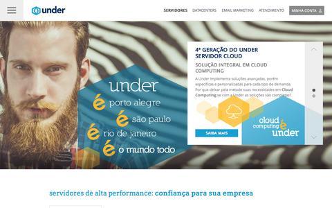 Screenshot of Home Page under.com.br - Servidores Dedicados, Servidores Cloud e Serviços Datacenter - Under - Servidores Dedicados, Servidores Cloud e Serviços Datacenter - Under - captured Sept. 11, 2015
