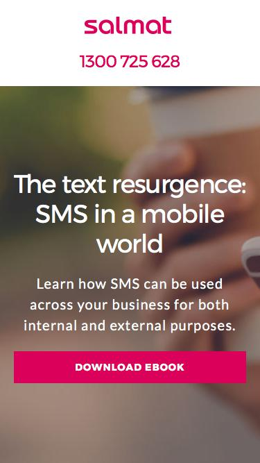 The text resurgence: SMS in a mobile world | | Research & Whitepapers | Salmat