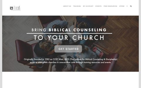 Screenshot of Home Page ibcd.org - IBCD – The Institute for Biblical Counseling & Discipleship - captured Nov. 14, 2018