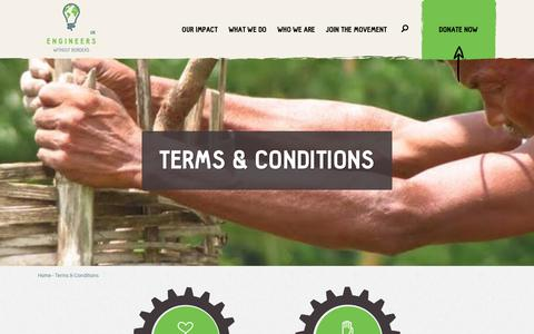 Screenshot of Terms Page ewb-uk.org - Terms & Conditions | Engineers Without Borders - captured Aug. 9, 2017