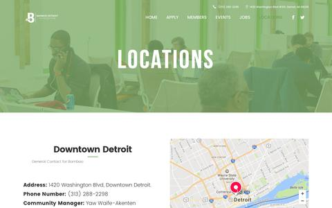 Screenshot of Contact Page Locations Page bamboodetroit.com - Bamboo Detroit | Bamboo Locations | Detroit, Metro Offices Office - captured May 31, 2017