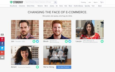 Screenshot of Team Page storenvy.com - Team & Jobs on Storenvy - captured Nov. 3, 2015